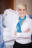 Smiling Female Housekeeper — Stock Photo