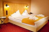 Arranged Bed In Hotel Room — Stockfoto