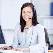 Pretty call center operator — Stock Photo