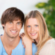 Young smiling couple in love — Stock Photo