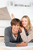Relaxed happy couple — Stock Photo