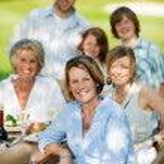 Family having a garden party — Stock Photo #26258739