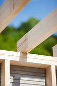 Roof beams of an unfinished roof — Stock Photo