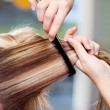 Female client at the hairdressers — Stock Photo