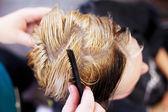 Female client in salon — Stock Photo