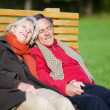 Stock Photo: Senior couple relaxing in the park