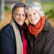 A Senior couple enjoying togetherness — Stock Photo
