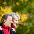 Laughing affectionate senior couple — Stock Photo
