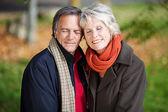 пожилые супружеские пары, наслаждаясь единения — Стоковое фото