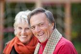 Smiling mature couple — Stock Photo