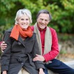 Cheerful mature couple — Stock Photo