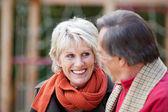 Senior woman looking at her better half — Stock Photo
