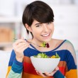 Stock Photo: Woman eating a healthy diet