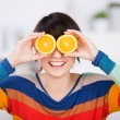 Stock Photo: Womwith citrus