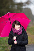 Walking in the rain — Stock Photo