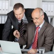 Business colleagues discussing information — Stock Photo