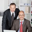 Two smiling businessmen — Stock Photo