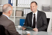 Two businessmen having conversation — Stock Photo