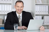 Competent businessman — Stock Photo