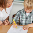 Small boy in kindergarten — Stock Photo