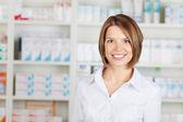 Cheerful pharmacist — Stock Photo
