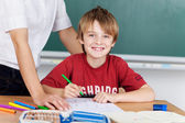 Little boy at school — Stock Photo