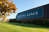 Driving Range Direction Sign — Stock Photo