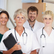 Doctors Team Smiling Together In Clinic — Stock Photo