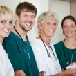 Doctors Smiling In Hospital — Foto Stock