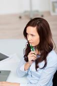 Serious young businesswoman — Stock Photo