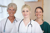 Confident Medical Team Of Female Doctors — Stock Photo