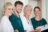 Doctors Smiling In Hospital — Stock Photo