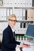 Serious Businesswoman At Work — Stock Photo
