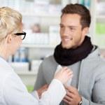 Happy Customer Buying Medicine At The Pharmacy — Stock Photo