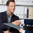 Stock Photo: Handshake While Job Interviewing