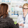 Customer Buying Medicine In Pharmacy — Stock Photo