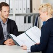 Job-Interview — Stockfoto