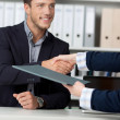 Handshake While Job Interviewing — Stock Photo #26581885