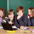 Stock Photo: Happy schoolchildren