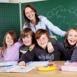 Stock Photo: Teacher and students