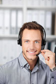 Young Man With Headset — Stock Photo