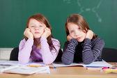 Uttråkad studenter — Stockfoto