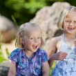 Two little sisters having fun — Stock Photo