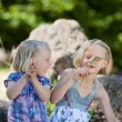 Two little girls — Stock Photo