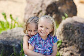 Two loving little sisters — Stock Photo