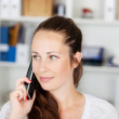 Woman with cellular phone — Stock Photo