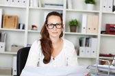 Portrait of beautiful woman with specs — Stock Photo