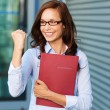 Excited businesswoman — Stock Photo