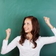 Successful student rejoicing at passing her grades — Stock Photo #26658007