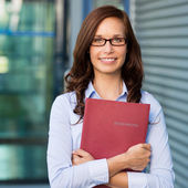 Female with book — Stock Photo